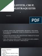 Epiglotitis, crup, laringotraqueitis