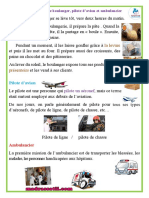 Les métiers de boulanger  pilote d'avion et ambulancier production - madrassatii.com