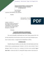 PLAINTIFFS' RESPONSE TO DEFENDANT GOVERNOR JUSTICE'S MOTION TO DISMISS