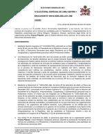RESOLUCIÓN DEL JEE LIMA CENTRO 1 QUE DECLARA IMPROCEDENTE LA FORMULA PRESIDENCIAL DE FUERZA POPULAR