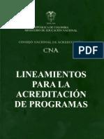 Lineamientos Para La Acreditacion de Programas