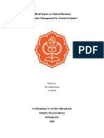 Interim Report on Clinical Pharmacy Treatment for patients Geriatric
