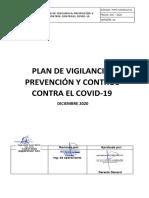 OBRAS PLAN DE VIGILANCIA PREVENCION Y CONTROL CONTRA EL COVID19