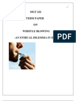 term paper on whistle blowing