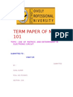 math - use of matrices determinants in electrical circuits
