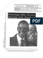 Sovereign Debt Crisis Dancing With Death 2-9-2011