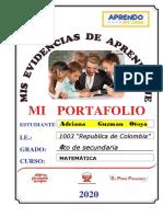 Portafolio de Matematica 4to Adriana Guznan Otoya Ccesa007