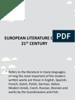 EUROPEAN LITERATURE OF THE 21ST CENTURY