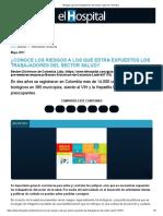 Riesgos para los trabajadores del sector salud en Colombia