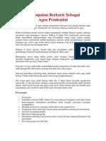 Kesempatan Berkarir Sebagai Agen Prudential