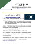 lettre AITEC février 2011