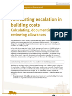 Forecasting building costs