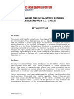 PROJECT REPORT ON FAT POWDER AND SOYA SAUCE POWDER