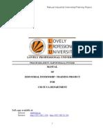 Manual Industry Internship & Training