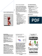 folleto de cáncer de próstata