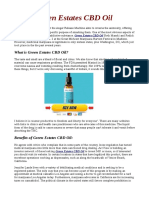 Green Estates CBD Oil|Reviews |Where to buy|Scam |Side Effects|