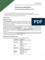 Guía TP9 - Requerimientos Nutricionales y Medios de Cultivo - Enfermeria 2017