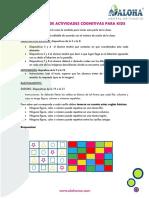 Guía Profesor _actividades COGNITIVAS Kids 1