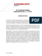 PROJECT REPORT ON PU FOAM MATTRESS