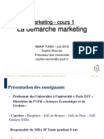 2019 - TUNIS Cours 1 - démarche marketing
