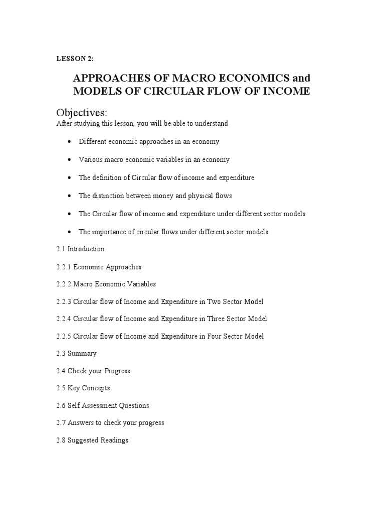Circular flow of income macroeconomics variable mathematics ccuart Images