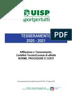1 - Norme Procedure e Costi Tesseramento UISP 2020-2021_1