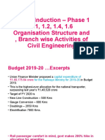 Organisation Structure and Branch wise Activities of Civil