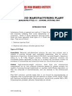 PROJECT REPORT ON I.V. FLUID MANUFACTURING PLANT
