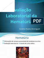 Avaliação Laboratorial da Hematúria