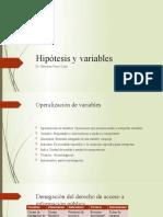 Hipótesis y operacionalización de variables - TESIS