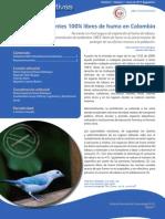 Hoja Informativa (Ambientes 100% libres de humo en Colombia)