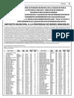 22-12-2020 Separata Impuestos H.A.M. Segunda Publicación