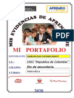 Portafolio de Matematica 4to Marlon Elias Cuzcano Zarate Ccesa007