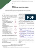 A 29 - 16 Requisitos generales para barras de acero, carbono y aleaciones, Forjado en caliente