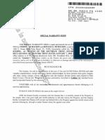Special Warranty Deed to Southpaw Trust