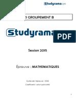 BTS_EEC_Mathematiques_2015_corrige_39133