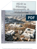PhD in Planning, Governance and Globalization - 2010-2011 Student Handbook