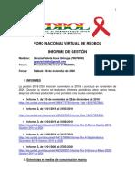 Informe de Gestión 2018-2020 Violeta Ross, Presidenta Nacional REDBOL