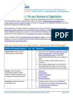 Peterborough Public Health COVID-19 Safety Plans for Business and Organizations