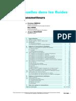 Pressions usuelles dans les fluides - Capteurs et transmetteurs
