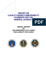 President's Pay Agent 2019 Report (locality pay for 2021)