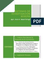 007 - Sistemas de Investigación Minera