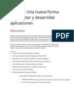 Docker - Una nueva forma de ejecutar y desarrollar aplicaciones