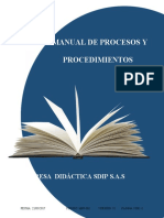 MPP-001 Manual de procesos y procedimientos