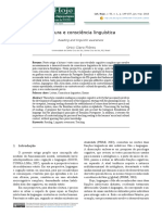 Leitura e consciência linguística