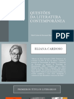 Literatura contemporânea - Eliana Cardoso