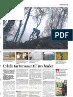Cykeln tar turismen till nya höjder