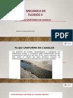 CLASE 9 FLUJO UNIFORME EN CANALES