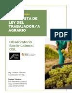 Propuesta de Ley del Trabajador Agrario/a (OSL)