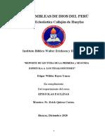 REPORTE DE LECTURA 1 y 2 TESALONICENSES-EREYES.